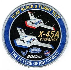 Boeing X-45A Stingray UVAC Block 2 Flight Test Patch (Liembo) Tags: boeing ucav x45 x45a stingray usaf drone stealth avgeek