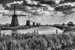 The Windmills of Kinderdijk (g_heyde) Tags: windmills kinderdijk molenward unescoworldheritagesite netherlands alblasserwaardpolder clouds windmühlen xpro2