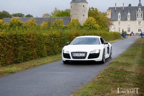 20181007 - Audi R8 V10 Coupe 525cv - N(2180) - CARS AND COFFEE CENTRE - Chateau de Longue Plaine