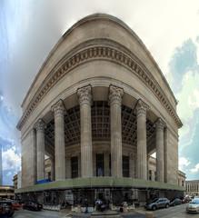 Panorama 3697_hdr_pregamma_1_mantiuk06_contrast_mapping_0.1_saturation_factor_0.8_detail_factor_1 (bruhinb) Tags: panorama hdr philadelphia pa usa regionalrail septa johnfkennedyblvd architecture sky city buildings building 30thstreetstation amtrak