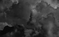 Monster Storm (Frédéric Fossard) Tags: monochrome noiretblanc blackandwhite grain texture dark ciel sky clouds nuages storm orage tourmente dramatique dramaticsky moodysky mood atmosphère alpes valais suisse montagne mountain paysage landscape cimes crêtes celluleorageuse thunderstorm stormcloud