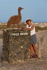 Dunes of Corralejo (piotr_szymanek) Tags: marzka portrait outdoor woman milf face eyesoncamera hat glasses sunglasses shorts sculpture sand beach dunes 1k 5k 20f 10k