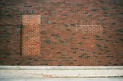 brick windows (davidhangell) Tags: color fujicolor film analogue analog colorfilm bricks brick urban