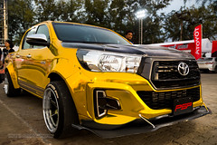 XOKA9440s (Phuketian.S) Tags: hilux toyota motor sport toyotamotorsport phuket thailand gold black phuketian fast fun fest car team racing tits color toyotafastfunfest fastfunfest sign road wheel audio tuning modified pickup truck flag toyotamotorsport2018 toyotaonemakerace daretorace livealive windshield people tree psp toyotahilux