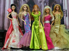 Springtime Gowns (Annette29aag) Tags: barbie doll fashion gown mermaid photography group collection annette29aag