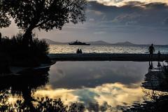 A5D_8125-2 Reflections of Dusk (foxxyg2) Tags: dusk sunset sundown silhouette aegean sky beach clouds reflections agiosgeorgios naxos cyclades greece greekislands islandhopping islandlife