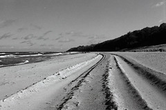 Furchen im Sand (RKE_nord) Tags: film f801 nikonf801 analog schwarzweis blackandwhite ostsee mecklenburg strand