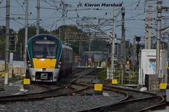 22043 departs Connolly, 18/9/18 (hurricanemk1c) Tags: railways railway train trains irish rail irishrail iarnród éireann iarnródéireann 2018 22000 rotem icr rok 4pce 22043 1628grandcanaldockhazelhatchandcelbridge dublin connolly