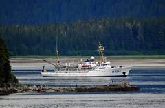 """NOAA Research Vessel """"Rainier"""" (S 221) (Infinity & Beyond Photography: Kev Cook) Tags: noaa research vessel rainier ship s221 marine cartography boat water inlet sea forest shore shoreline trees"""