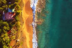 Guadeloupe - Plage de la Perle Aerial (030mm-photography) Tags: guadeloupe plagedelaperle karibik strand beach wellen meer karibisch urlaub reise travel vacation waves sea sonne sonnenuntergang luftaufnahme drone drohne