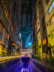 #283 Channelling Blade Runner (tokyobogue) Tags: tokyo japan shibuya nexus6p nexus 365project city cityscape urban colours buildings streambuilding river bladerunner futuristic