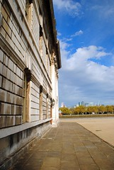 Greenwich Royal Naval College by the Thames (zawtowers) Tags: jubilee greenway section 7 seven greenwichtotowerbridge saturday 13th october 2018 amble stroll walk walking exploring london suburbs riverthames path following urban exploration warm sunny dry blue skies greenwich royal naval college impressive size bulding looking north facing river