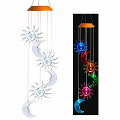 Solar Powered Sun And Moon Wind Chime (mywowstuff) Tags: gifts gadgets cool family friends funny shopping men women kids home
