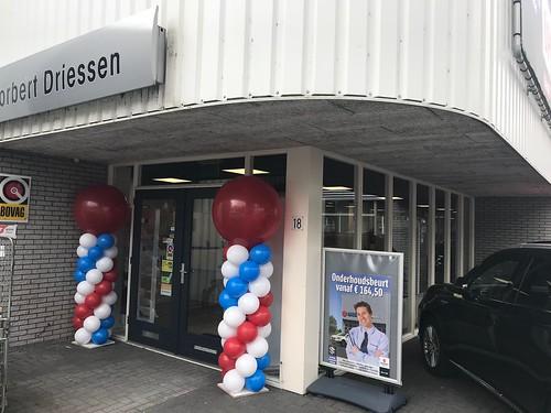 Ballonpilaar Breed Rond Mitsubishi Nissan en Suzuki Dealer Norbert Driessen Utrecht