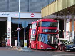 Uxbridge Bus Station (portemolitor) Tags: london hillingdon uxbridge busstation bus station metroline transportforlondon wrightbus newbusforlondon newroutemaster wright new transport for tfl routemaster