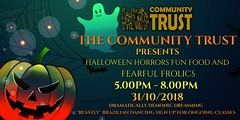 Tomorrow evening, bring the family down for some frightening frolics and scary surprises at the Community Trust #Halloween2018 party 👻🍭🍬 https://t.co/TCq8tYT090