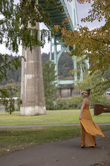Alexis_StJohns-0013 (Aaron A Baker) Tags: girls oregon women teenagers model portraits cathedral park portland autumn fall yellow dress leafs alexis hoffman