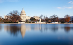 The Capitol Building (sk_husky) Tags: unitedstates capitol congress senate houseofrepresentatives washington dc districtofcolumbia clouds sky water reflection longexposure winter trees capitolreflectingpool canon 6d nisi neutraldensity ndfilter