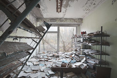 Pripyat Public School № 2 (Sean M Richardson) Tags: abandoned school library books pripyat chernobyl exclusion zone canon photography exploration urbex decay autumn fall historic history