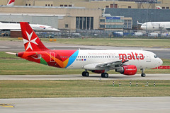 9H-AEN 2 Airbus A320-214 Air Malta LHR (Ken Fielding) Tags: 9haen airbus a320214 airmalta aircraft airplane airliner jet jetliner