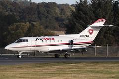 British Aerospace BAe125-800A N812AM Airmed International (Mark McEwan) Tags: britishaerospace bae125 bae125800a n812am airmed airmedinternational airambulance aviation aircraft airplane bizjet edi edinburghairport edinburgh