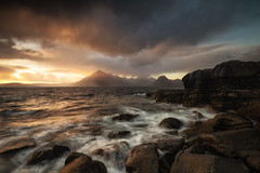 the tides of elgol (akh1981) Tags: elgol scotland seaside seascape sunset wideangle walking water clouds outdoors ocean mountains moody landscape nikon nisi nature nisifilters sky isleofskye rocks