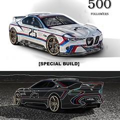 Instagram 500th Follower - BMW CSL Hommage R - Concept (lego911) Tags: instagram 500th follower back2brick model moc miniland lego lego911 ldd auto car bmw csl hommage r coupe 500
