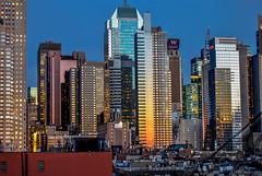 Sunset in the skyline - New York (Michele Centurelli) Tags: nikon d3000 new york skyline sunset 1855 newyork manhattan golden hour