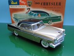 1956 Chrysler New Yorker St. Regis 2 Door hardtop a 1/32 scale model by Revell / AMT (vinnyvrg) Tags: 1955 1956 chrysler newyorker stregis revell amt 132scale modelcar plastic twotone hardtop 2doorhardtop 1956chrysler