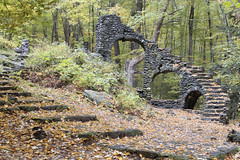 Madame Sherri's Castle Ruins (Jonnie Lynn Lace) Tags: abandoned america american usa unitedstates ruins derelict decay detail details texture textures fall leaves autumn automne october colours red orange yellow green stairs staircase exploration explore explorer exterior bright trees newhampshire nh newengland madamsherri architecture arte arches old classic history time memories naturetakesover nature natur nikkor nikon d750 50mm digital flickr ruinas abandonedamerica