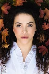 Greta. An autumn portrait of the actress (mkarwowski) Tags: woman girl portrait autumn autumnportrait m42 helios44 helios44m6 canoneos80d canon eos 80d eos80d leaves
