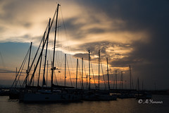 Sunset in Siracusa-Ortigia II (Ali Yamaner) Tags: siracusa ortigia italy sunset sicily sicilia outdoor clouds yachts seacape seaside harbour canon eos 5d markiii