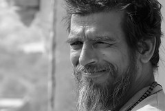 Orchha 2017 (gerben more) Tags: orccha orchha people portrait portret beard india man blackwhite monochrome
