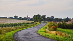 landscapes of Lower Silesia (JoannaRB2009) Tags: summer mood landscape view countryside road path countryroad green church building architecture village town lowersilesia dolnyśląsk rural polska poland