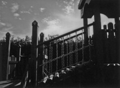 Bright afternoon (odeleapple) Tags: leica sofort fujifilm instax monochrome analog bw afternoon sun playground