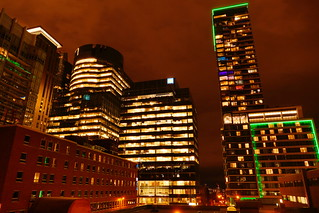 At Night on a Downtown Montreal Rooftop