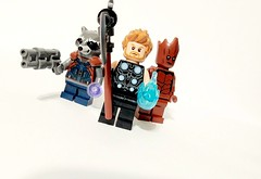 Thor, Rocket and Groot