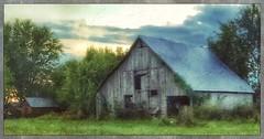 Ozarks morn... (Sherrianne100) Tags: textures painterly rural oldbarn barn farm dawn ozarks missouri