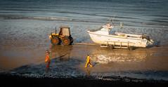 Gawn Fishin' (wibblefish) Tags: cromer norfolk seaside fishermen beach sea waves tractor trailer boat photovember