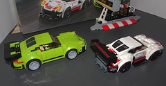 LEGO Speed Champions: Porsche 911 RSR and 911 Turbo 3.0 (OrbitalGoat) Tags: lego speed champions porsche 911 rsr turbo 30