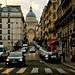Vue du Panthéon et de la Rue des Carmes depuis le Boulevard Saint-Germain