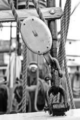 . (just.Luc) Tags: bn nb zw monochroom monotone monochrome bw ship schip bateau katrol poulie pulley zealand sjælland seeland helsingør danmark denmark denemarken danemark dänemark tanska europa europe