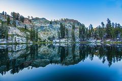 BareIslandLake1Sept2-18 (divindk) Tags: bareislandlake california maderacounty sierranationalforest backpacking camping granite lake quiet reflection serene sunlight sunrise
