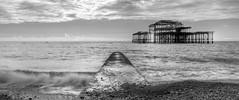 West Pier, Brighton, 03/10/2018 [Explored] (marktandy) Tags: brighton westpier pier sussex coast englishchannel october 2018 ruin derelict sea tide lowtide shingle beach