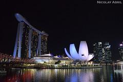 Singapore's Marina Bay (Nicolay Abril) Tags: singapore singapura 新加坡 சிங்கப்பூர் singapur singapour सिंगापुर asia asien asie l'asie 아시아 เอเชีย អាស៊ី 亚洲 亞洲 アジア châuá sudesteasiático đôngnamá southeastasia asiatenggara asiedusudest sudestasiatique 东南亚 ஆசியா தென்கிழக்குஆசியா 濱海灣金沙酒店 artsciencemuseum singaporeartsciencemuseum 新加坡艺术科学博物馆 marinabay nightphotography fotografíanocturna fotografiadinotte photographiedenuit noche nuit night 夜、夜の写真 夜間攝影 晚上 malamfotografi malam இரவுபுகைப்படம் இரவு helixbridge reflejosenagua riflessiinacqua refletsdansleau waterreflections waterreflection wetreflection wetreflections lights citylights விளக்குகள் நகரம்விளக்குகள் lampu lampubandar 燈 城市的燈光 lumières lumièresdelaville luces lucesdelaciudad