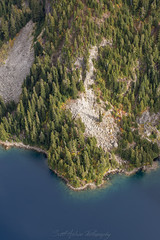 Marmot Lake (Scott_Nelson) Tags: skykomish washington unitedstates us cascades cascadesfromtheair cascademountians aerialphotography aerial fall fallcolors