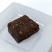 Yummy Scrummy - Raw Chocolate Brownie on white plate