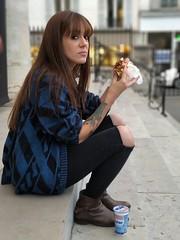 Kebap (daniellatif) Tags: kebab kebap sandwich portrait église batignolles church punk goth ayran grec