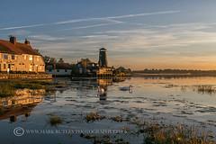 SWANS AT DAWN (mark_rutley) Tags: clouds coastmill hampshire harbour langstone markrutleyphotography sky sunrise dawn daybreak nature swan swans wildlife hampshirewildlife