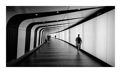 How we live in the future (fishyfish_arcade) Tags: galaxys7 london londonunderground corridor tunnel streetphotography candid blackwhite blackandwhite bw monochrome mono smartphone phonecamera
